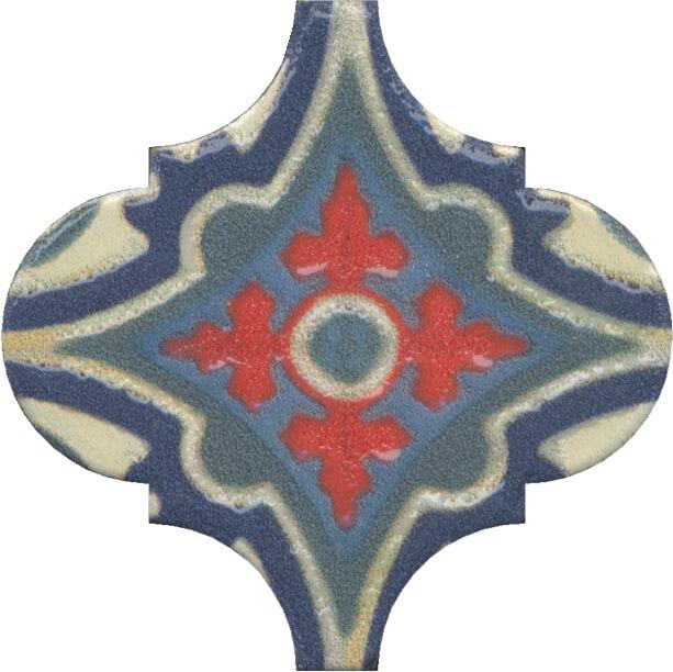 Керамический декор Kerama Marazzi Арабески Майолика орнамент OS/A29/65000 6,5х6,5 см керамический декор kerama marazzi арабески майолика гауди op a172 65000 6 5х6 5 см
