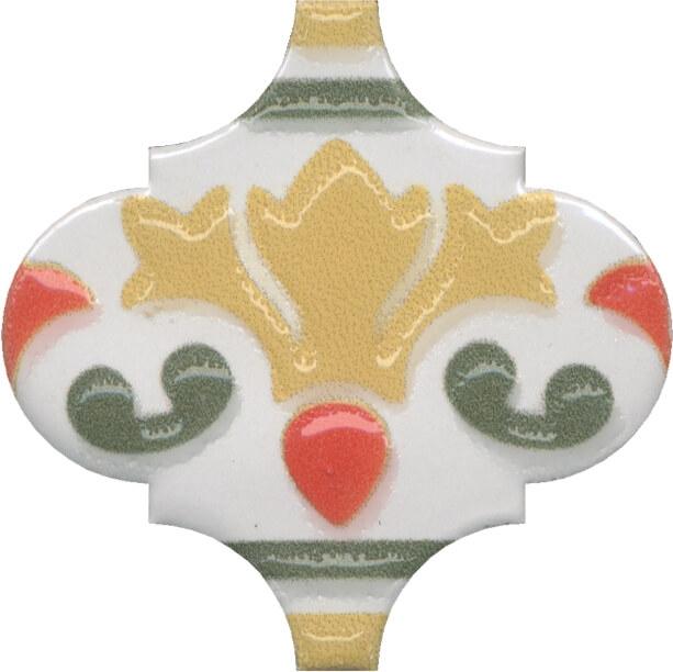 цена Керамический декор Kerama Marazzi Арабески Майолика орнамент OS/A28/65000 6,5х6,5 см онлайн в 2017 году