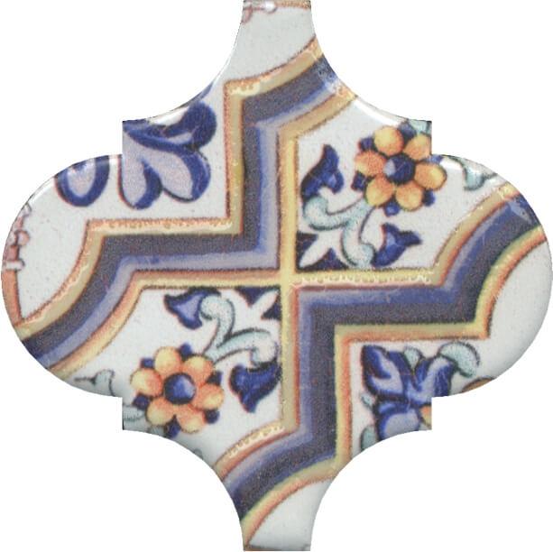 Керамический декор Kerama Marazzi Арабески Майолика орнамент OP/A161/65000 6,5х6,5 см керамический декор kerama marazzi арабески майолика гауди op a172 65000 6 5х6 5 см
