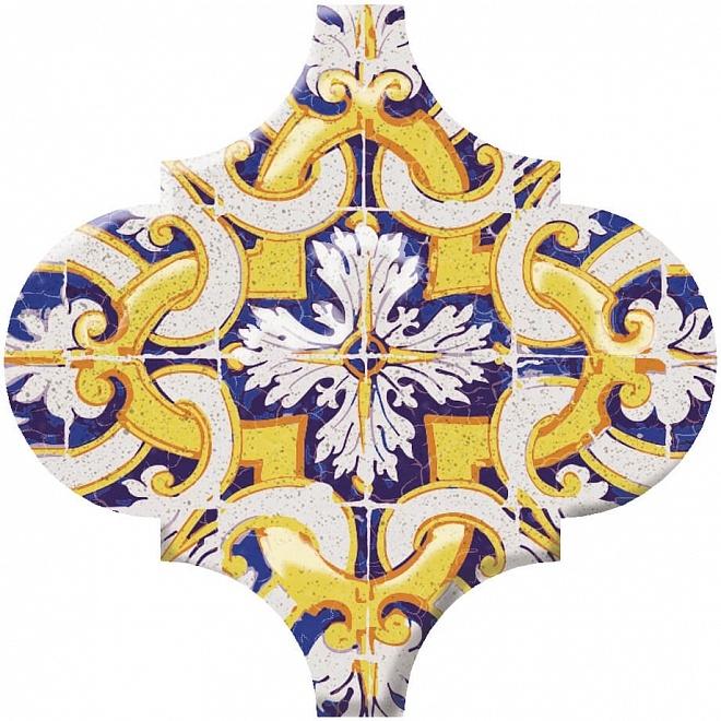 Керамический декор Kerama Marazzi Арабески Майолика орнамент OP/A159/65000 6,5х6,5 см керамический декор kerama marazzi арабески майолика гауди op a172 65000 6 5х6 5 см