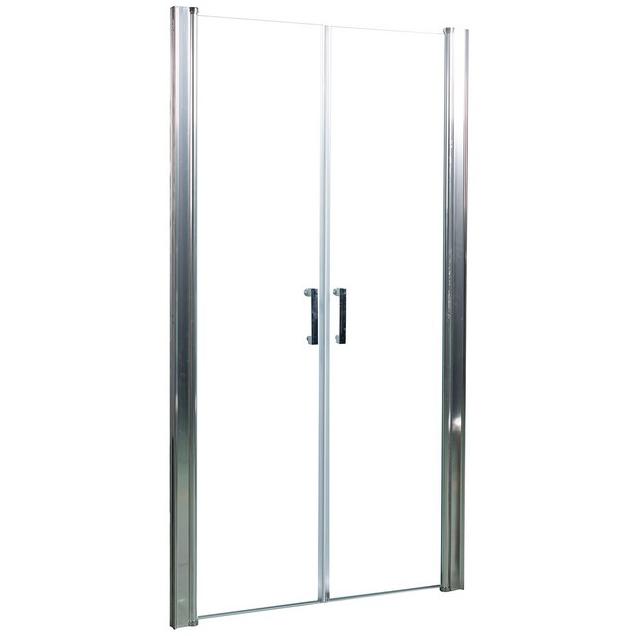 Душевая дверь в нишу River Suez 100 МТ профиль Матовый хром стекло матовое цена и фото