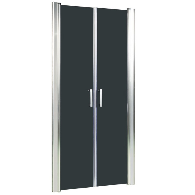 Душевая дверь в нишу River Suez 80 ТН 10000001549 профиль Матовый хром стекло тонированное
