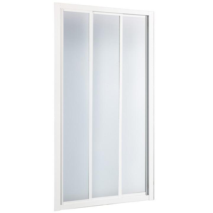 Душевая дверь в нишу River La Manche 100 МТ профиль Белый стекло матовое душевая дверь river la manche la manche 110 mt