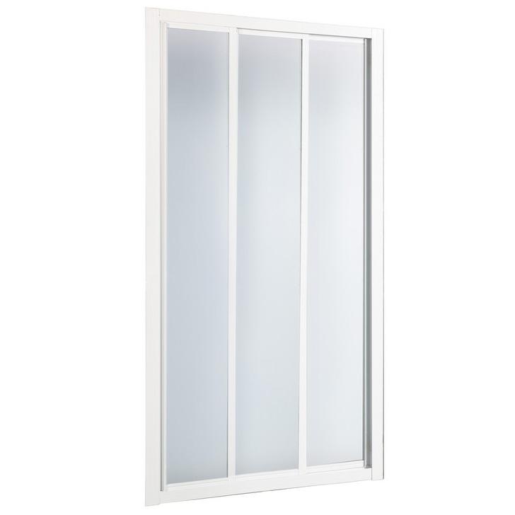 Душевая дверь в нишу River La Manche 90 МТ профиль Белый стекло матовое душевая дверь river la manche la manche 110 mt