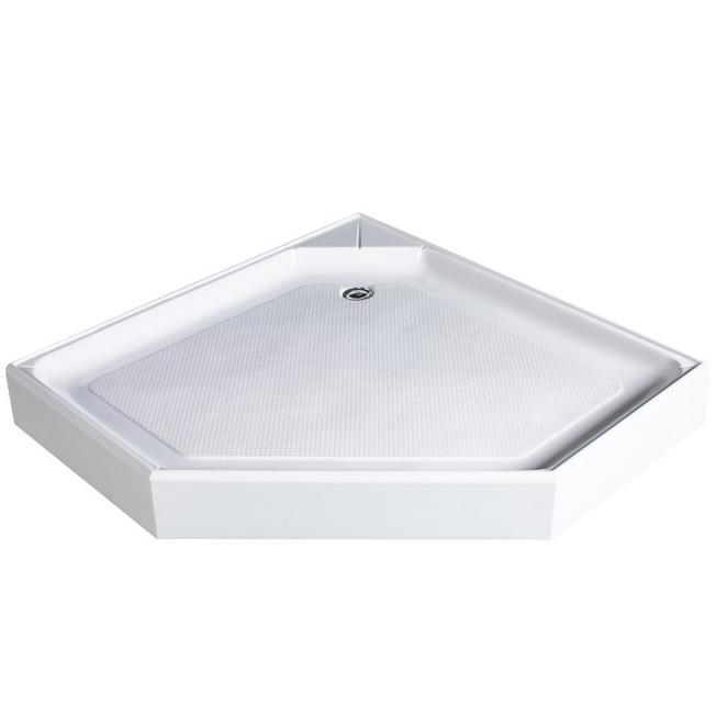 Акриловый поддон для душа River Penta 100x100x15 пятиугольный Белый цена 2017