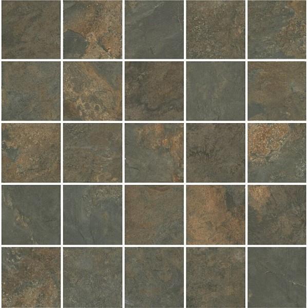 Керамический декор Kerama Marazzi Рамбла коричневый мозаичный MM12132 25х25 см керамический декор alaplana kingstone biege стена 9 видов 25х25 см