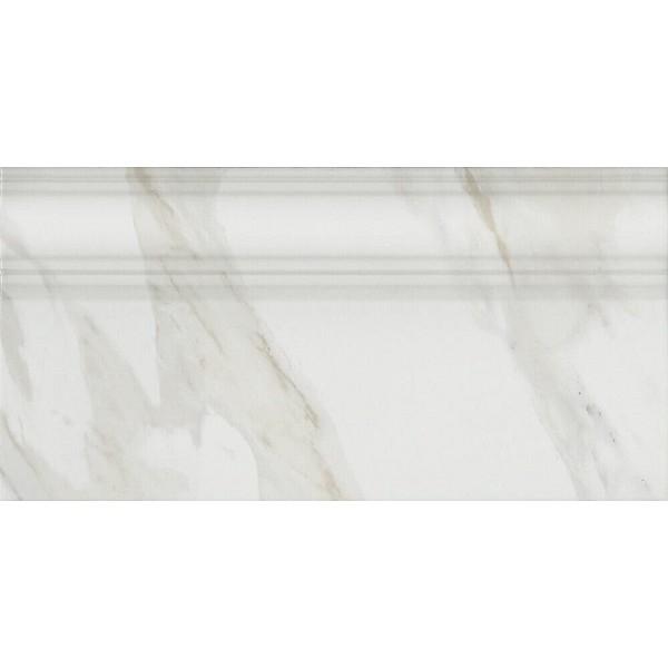 Керамический плинтус Kerama Marazzi Прадо белый обрезной FME002R 20х40 см