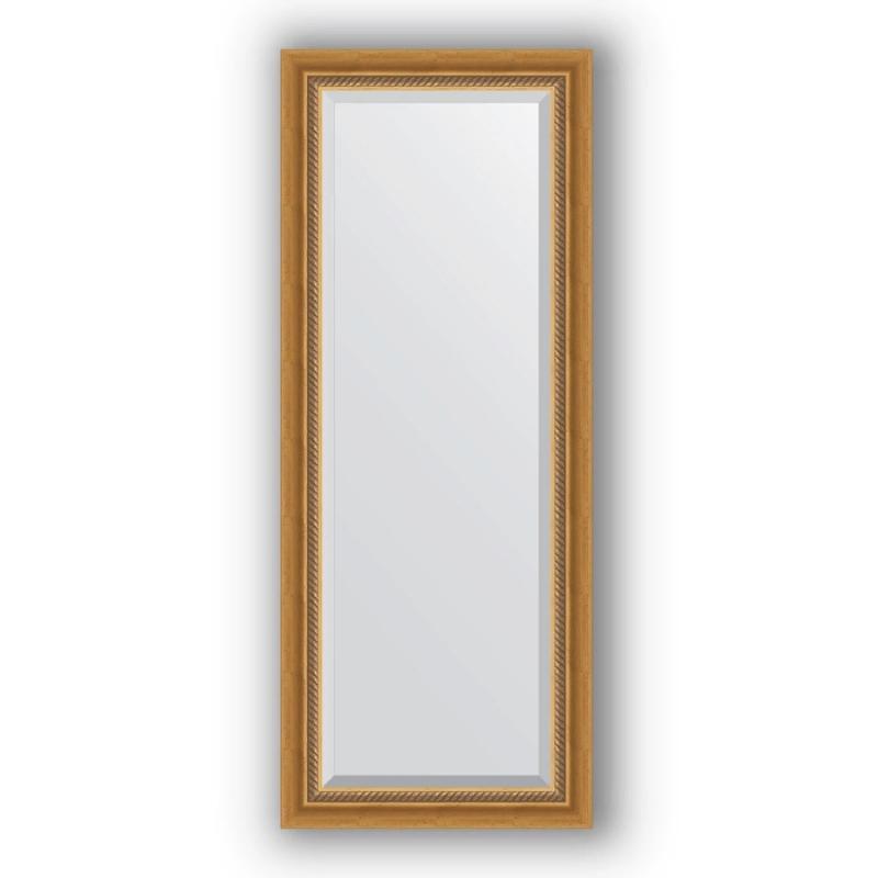 Зеркало Evoform Exclusive 133х53 Состаренное золото с плетением зеркало evoform exclusive 133х53 состаренное серебро с плетением