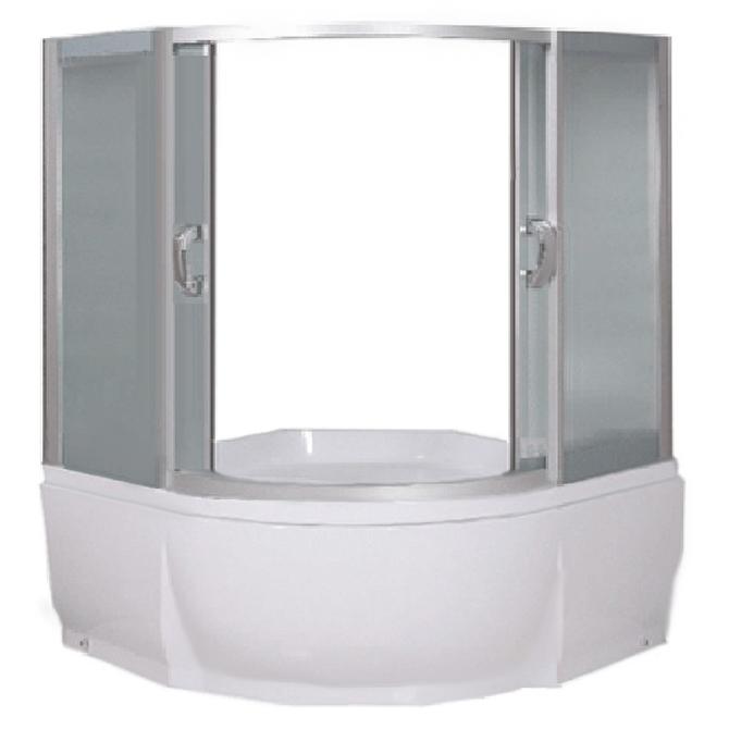 Шторка на ванну River Eger 135x135 МТ 10000002886 профиль Матовый хром стекло матовое
