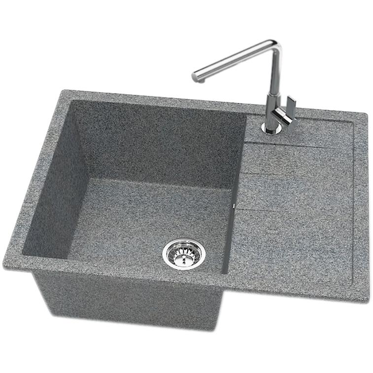 Кухонная мойка Zett Lab Модель 151 64,5x50,5 T151Q008 Темно-серая цена 2017