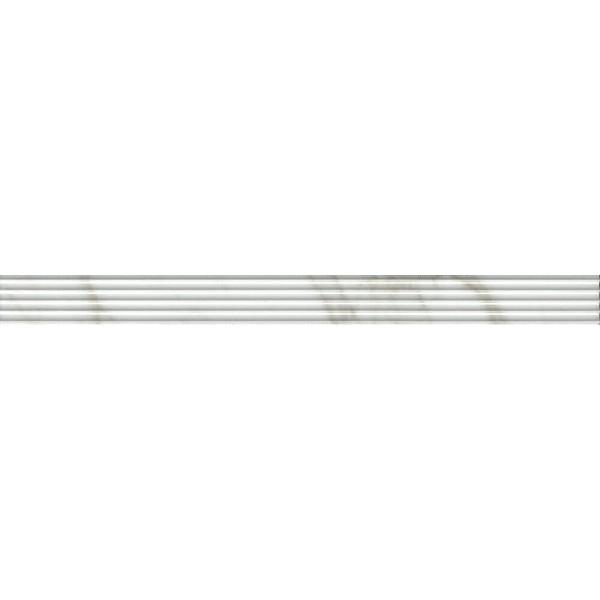 Керамический бордюр Kerama Marazzi Прадо белый структура обрезной LSA014R 3,4х40 см