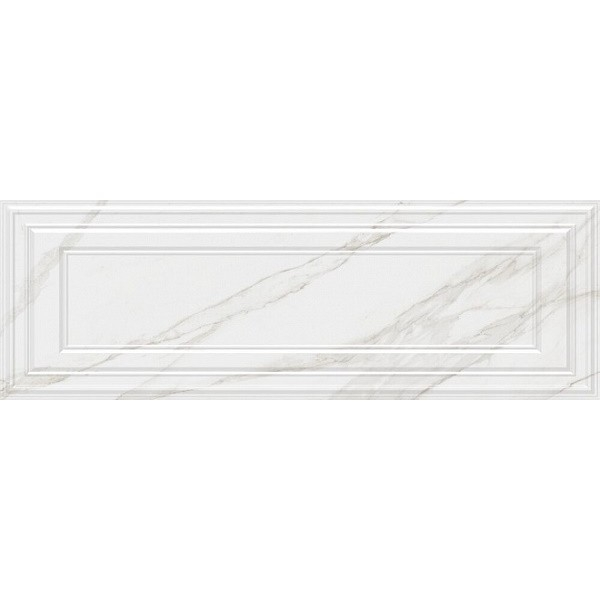 Керамическая плитка Kerama Marazzi Прадо белый панель обрезной 14002R настенная 40х120 см