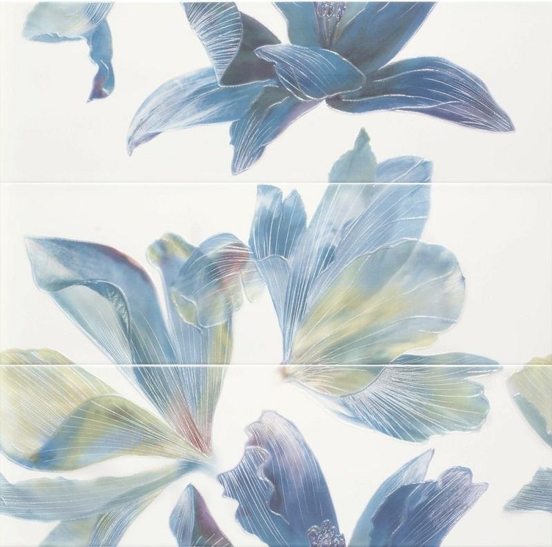Панно Ape Bloom Decor Set(3) Aqua/Lime 28x85см
