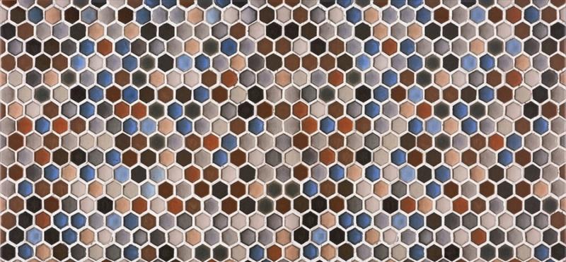 Керамическая плитка Azulev Everest Hexatile Multicolor настенная 30x60см фото