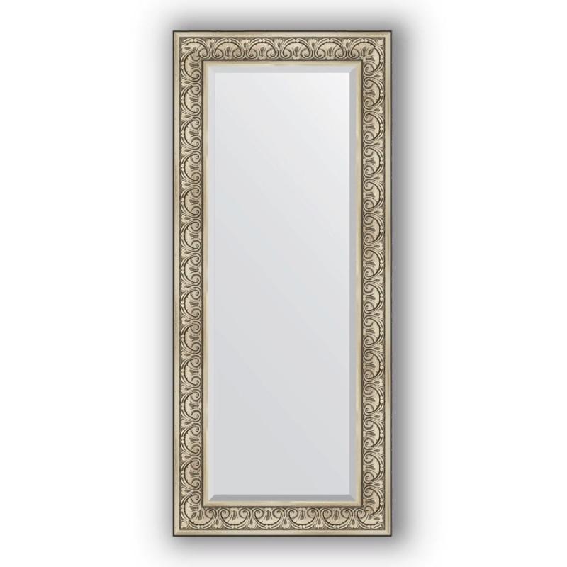 Зеркало Evoform Exclusive 150х65 Барокко серебро фото