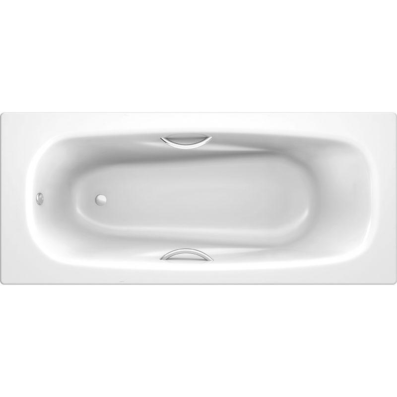 Стальная ванна Koller Pool Deline 170x75 B75US200E с отверстиями для ручек без антискользящего покрытия