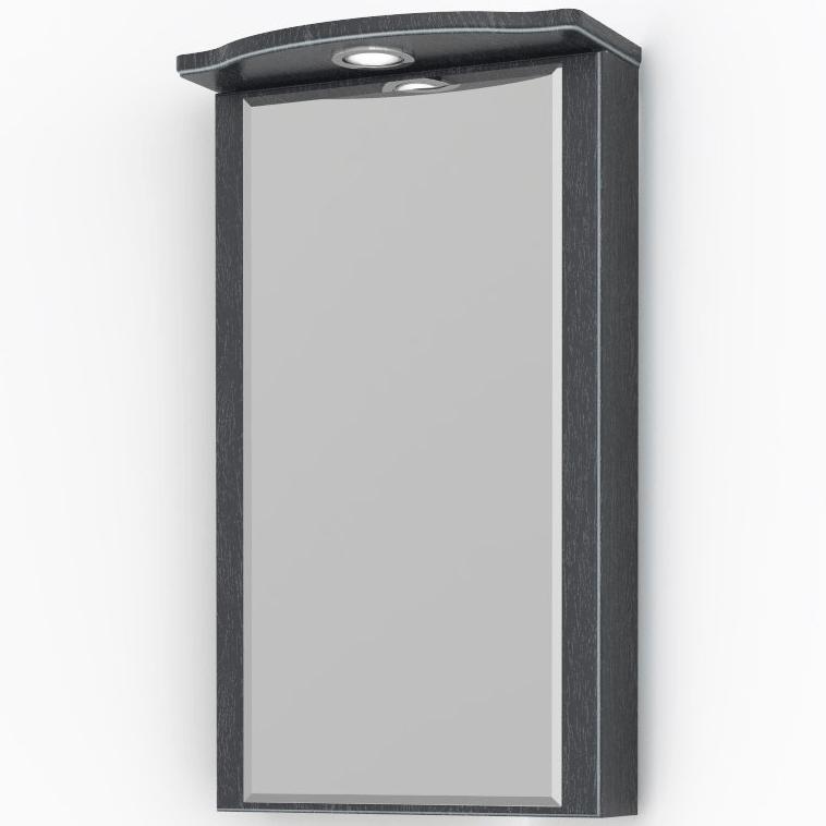 Зеркальный шкаф Какса-А Патина 37 4362 угловой Черный с белым зеркальный шкаф какса а сити 105 004418 подвесной серый гранит