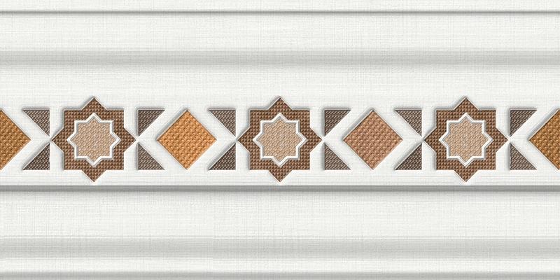 Бордюр Pamesa Ceramica Alhambra Cenefa Albaicin Marron 15x30см