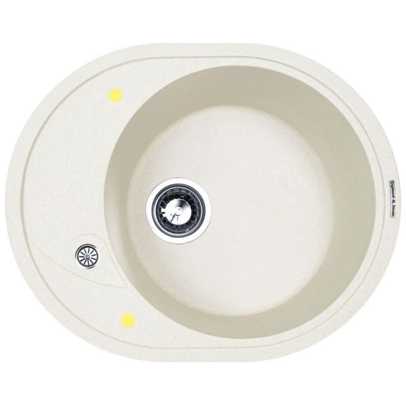 Фото - Кухонная мойка Zigmund&Shtain Kreis OV 575 Индийская ваниль hero 575