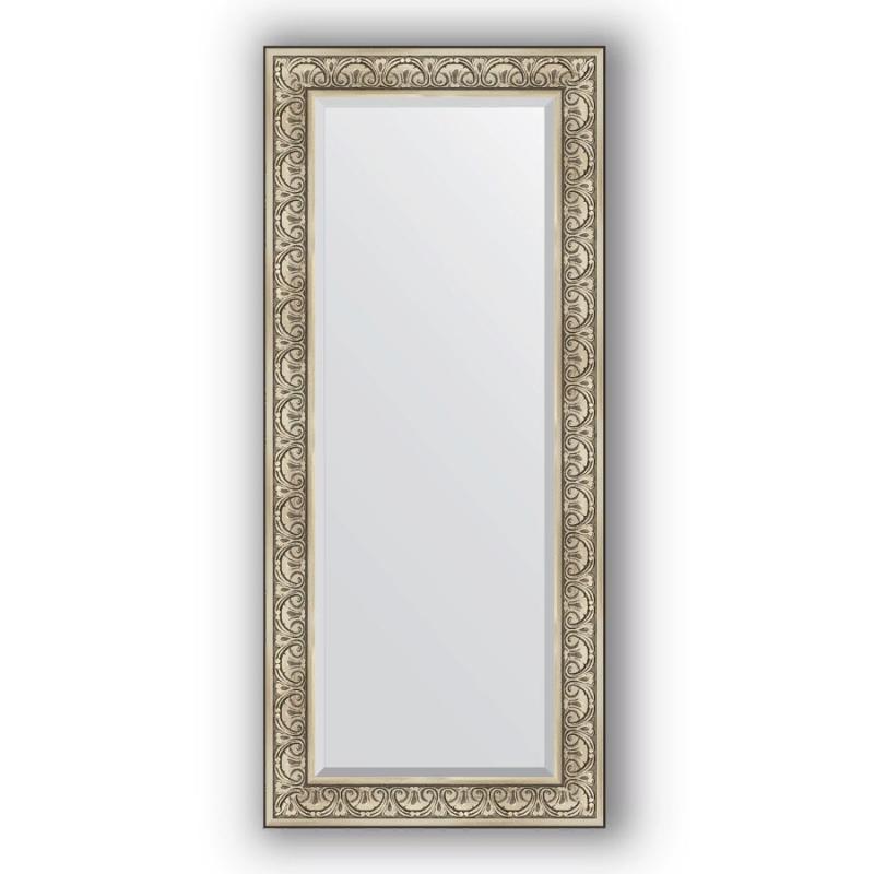 Фото - Зеркало Evoform Exclusive 160х70 Виньетка серебро зеркало напольное с фацетом evoform exclusive floor 115x205 см в багетной раме виньетка серебро 109 мм by 6176