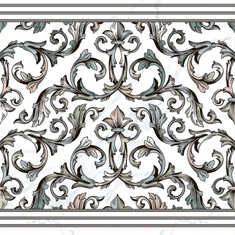 Керамогранит Pamesa Ceramica Marbles Dec. Cenefa Malaquita Blanco Rect. 60x60см liquid marbles