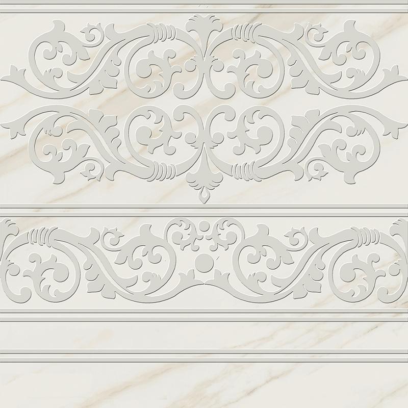 цена на Керамогранит Pamesa Ceramica Marbles Dec. Cenefa Vitreo Blanco Rect. 60x60см