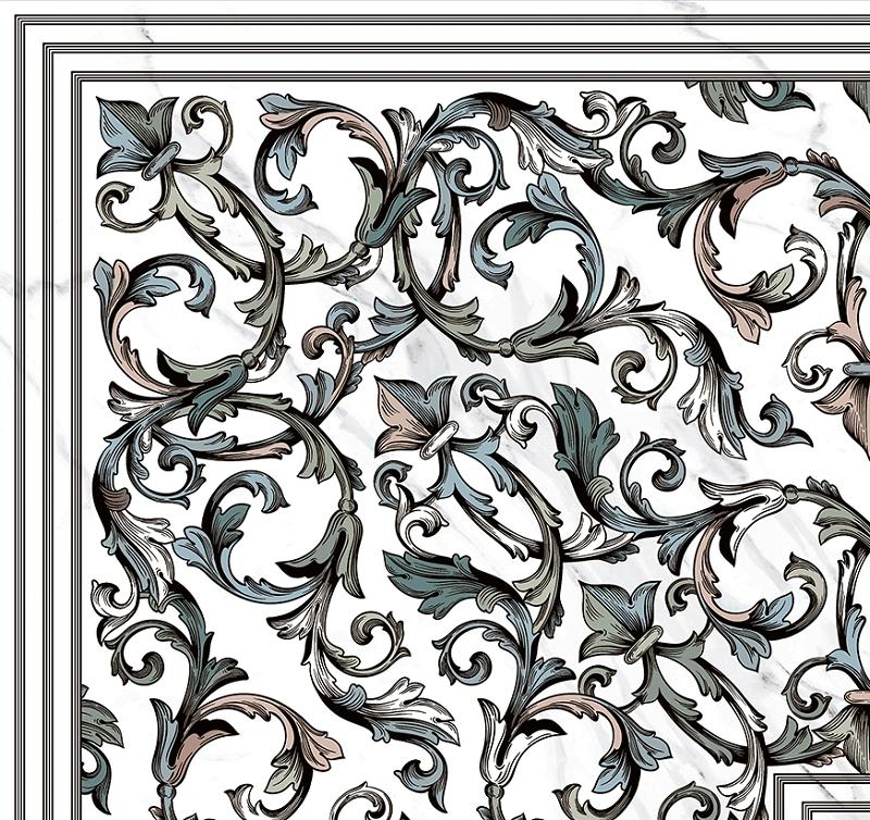 цена на Керамогранит Pamesa Ceramica Marbles Dec. Giro Malaquita Blanco Rect. 60x60см