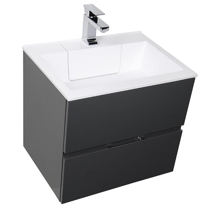 Тумба под раковину Aquanet Алвита 90 240111 подвесная Серый антрацит комплект мебели aquanet алвита 184578