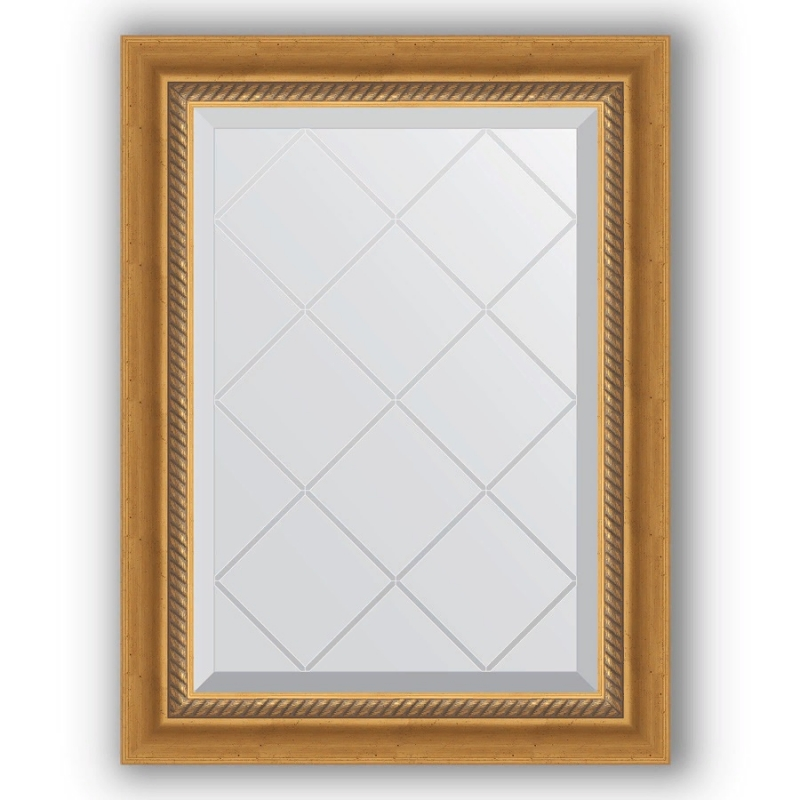 Зеркало Evoform Exclusive-G 71х53 Состаренное серебро с плетением зеркало evoform exclusive g 103х103 состаренное серебро с плетением