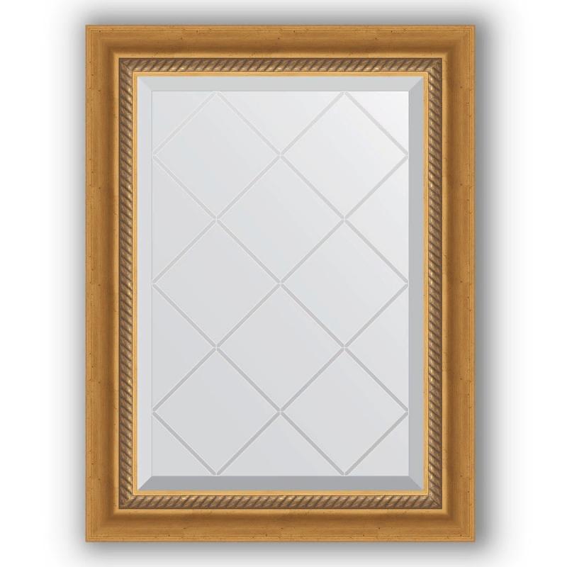 Зеркало Evoform Exclusive-G 71х53 Серебряный бамбук