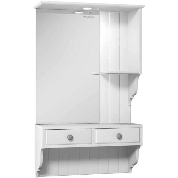 Зеркальный шкаф Edelform Dijon 60 с подсветкой Белый матовый messmer dijon