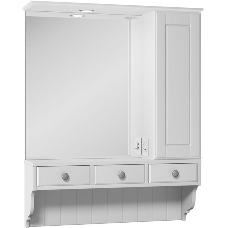 Зеркальный шкаф Edelform Dijon 80 с подсветкой Белый матовый messmer dijon