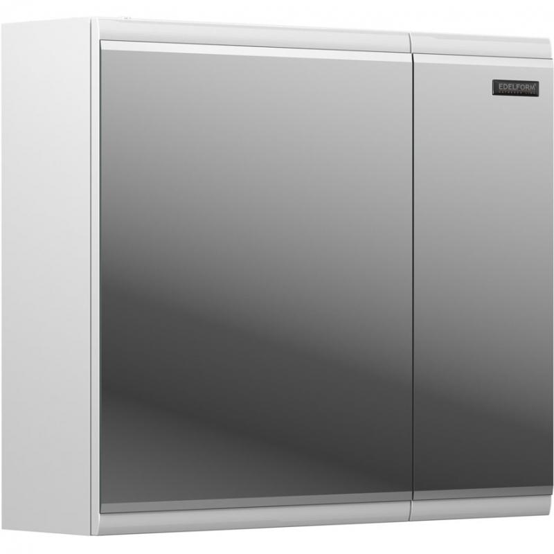 Зеркальный шкаф Edelform Forte 80 Белый глянец зеркальный шкаф edelform nota 105 с подсветкой серый глянец