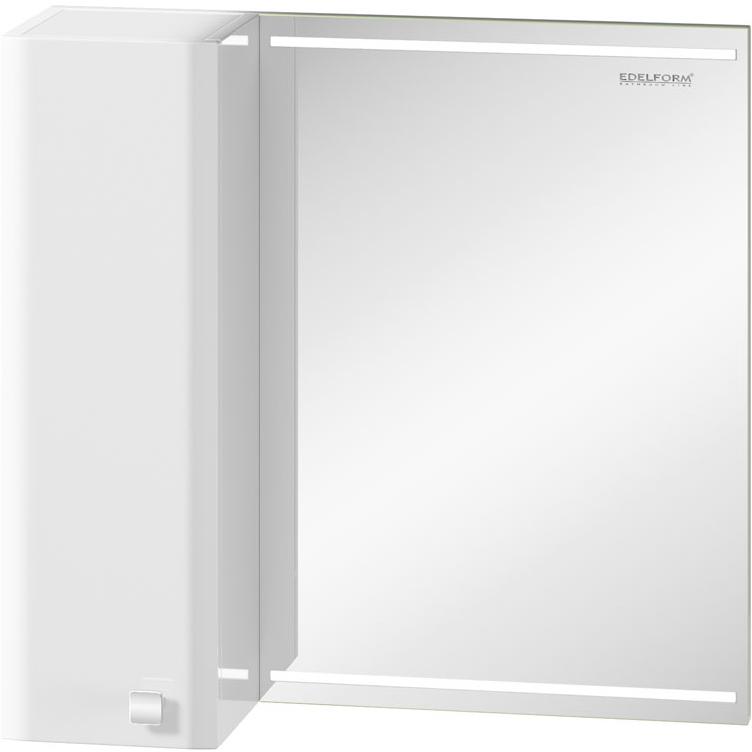 Зеркальный шкаф Edelform Nota 65 с подсветкой Белый глянец зеркальный шкаф edelform carino 100 с подсветкой черный глянец