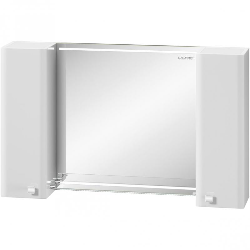 Зеркальный шкаф Edelform Nota 105 с подсветкой Белый глянец зеркальный шкаф edelform carino 100 с подсветкой черный глянец