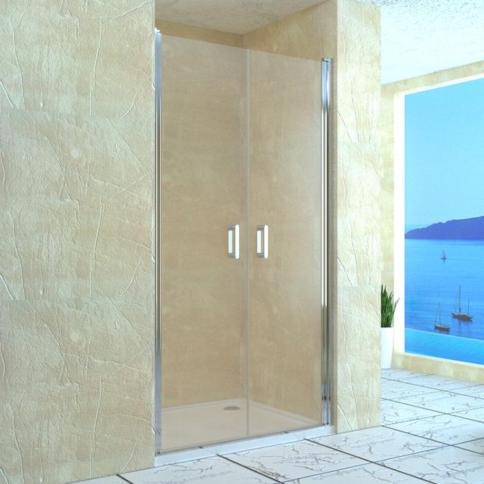 Душевая дверь в нишу RGW Leipzig LE-06 80 профиль Хром стекло прозрачное душевая дверь в нишу rgw leipzig le 03 80 профиль хром стекло прозрачное