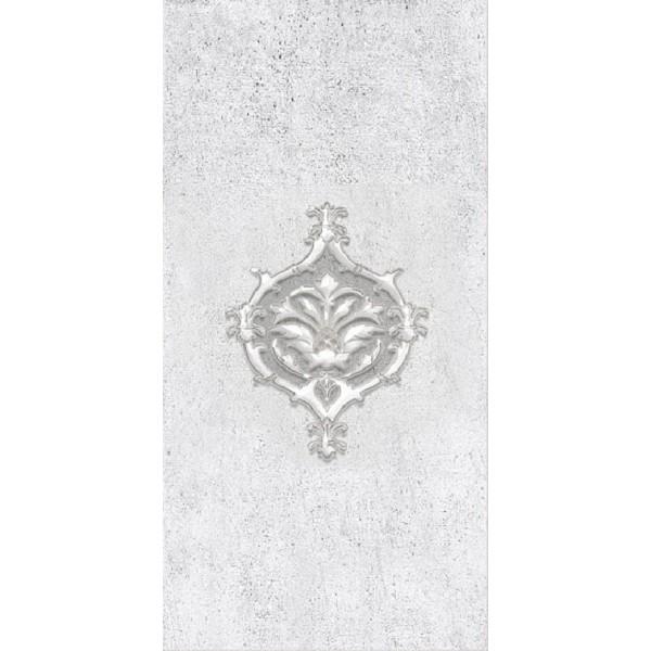 Керамический декор Нефрит Керамика Преза светло-серый 08-04-06-1015-0 20х40 см
