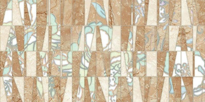 Керамический декор Нефрит Керамика Ханна 2 08-00-11-1276 20х40 см керамическая плитка нефрит керамика ханна бежевый 08 01 11 1275 настенная 20х40 см