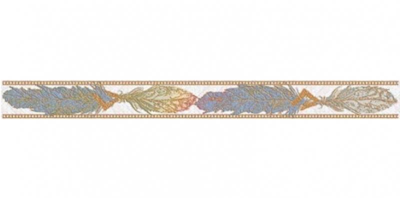 Керамический бордюр Нефрит Керамика Этнос Цветы голубой 57-03-65-1223-1 5х50 см керамическая плитка нефрит керамика этнос голубой 10 01 65 1223 настенная 25х50 см