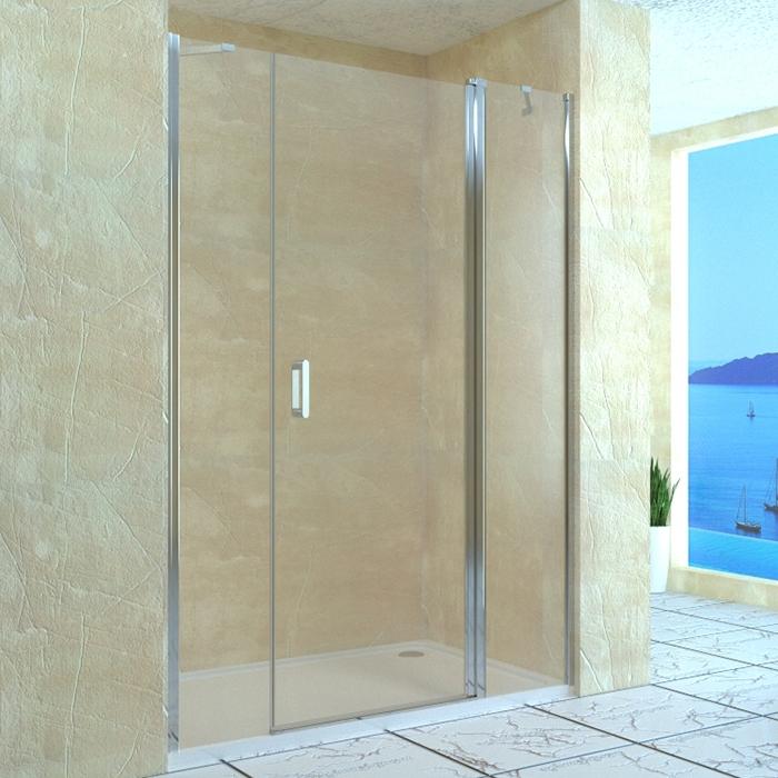 Душевая дверь в нишу RGW Leipzig LE-09 130 профиль Хром стекло прозрачное душевая дверь в нишу rgw leipzig le 02 90 профиль хром стекло прозрачное