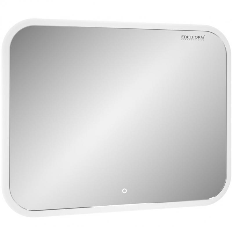 Зеркало Edelform Мodest Led 75 с подсветкой с сенсорным выключателем зеркало edelform fancy led 80 с подсветкой с сенсорным выключателем