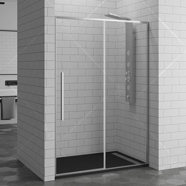 Душевая дверь в нишу RGW Stilvoll SV-12 100 профиль Хром стекло прозрачное
