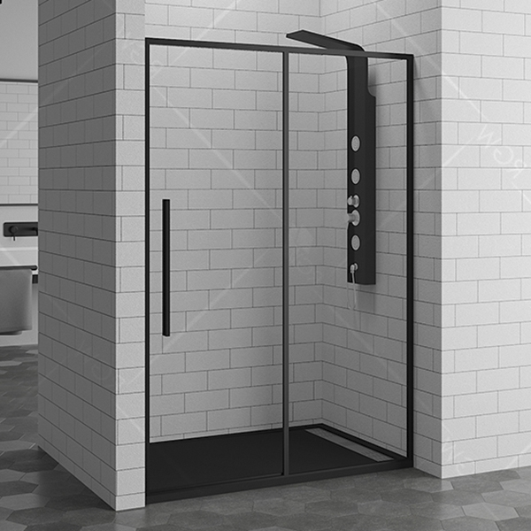 Душевая дверь в нишу RGW Stilvoll SV-12-B 100 профиль Черный стекло прозрачное