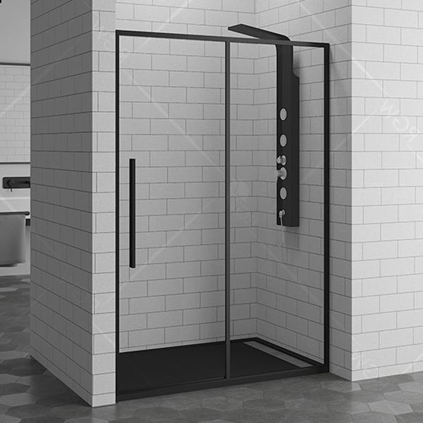 Душевая дверь в нишу RGW Stilvoll SV-12-B 140 профиль Черный стекло прозрачное