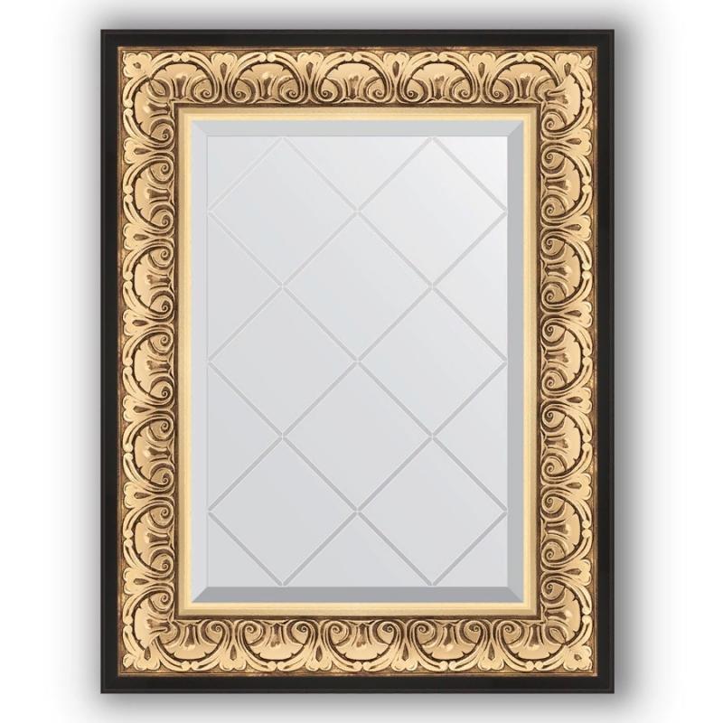 Фото - Зеркало Evoform Exclusive-G 77х60 Барокко золото зеркало с гравировкой поворотное evoform exclusive g 70x160 см в багетной раме барокко золото 106 мм by 4165