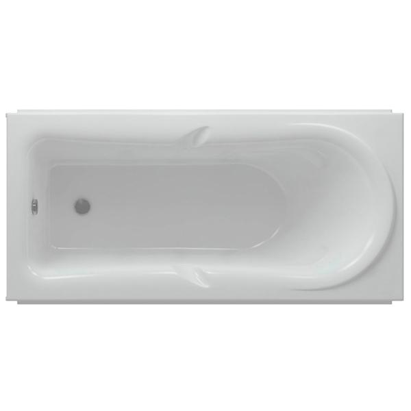 Акриловая ванна Акватек Леда 170х80 с гидромассажем премиум форсунки