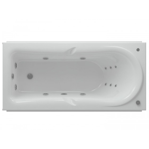 купить Акриловая ванна Акватек Леда 170х80 с гидромассажем плоские форсунки по цене 42309 рублей