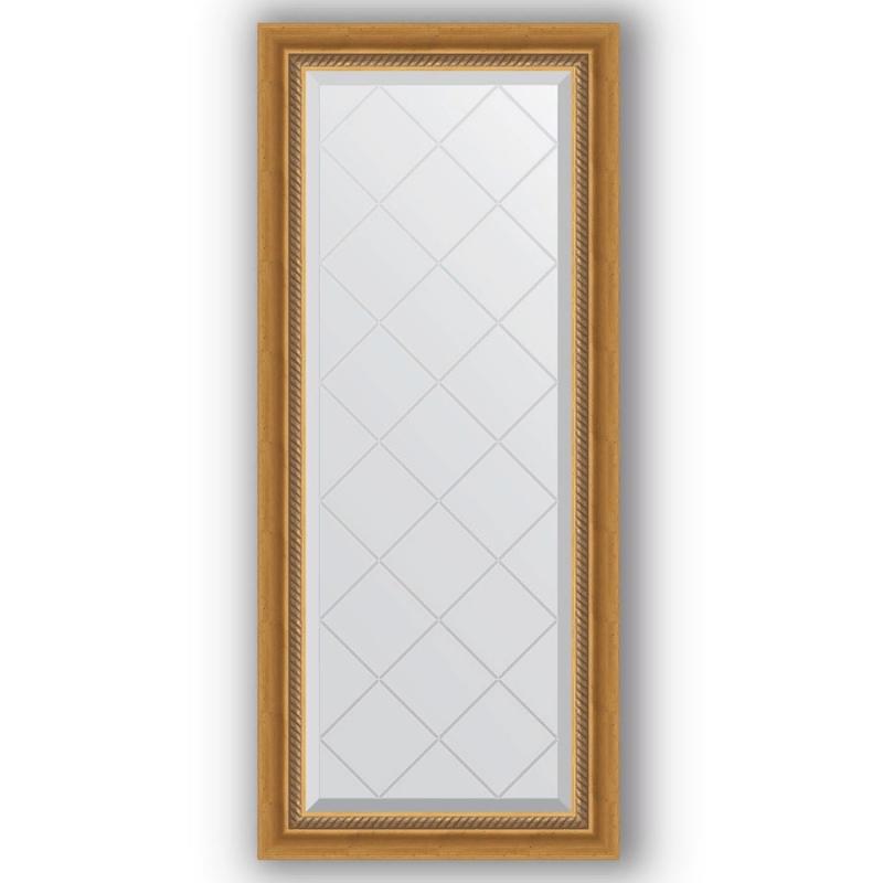 Зеркало Evoform Exclusive-G 123х53 Состаренное серебро с плетением зеркало evoform exclusive g 103х103 состаренное серебро с плетением