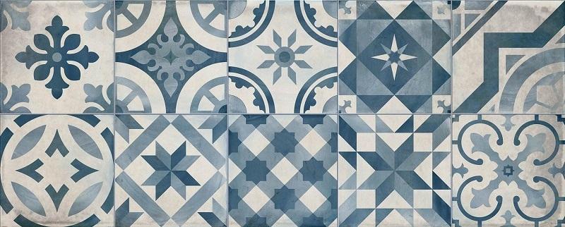 Керамическая плитка Cifre Montblanc Decor Blue настенная 20x50см цена