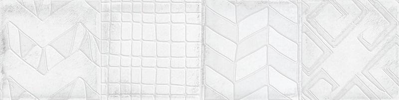 Керамическая плитка Cifre Alchimia Decor White настенная 7.5x30см керамическая плитка cifre alchimia 2 decor glaciar настенная 7 5x30см